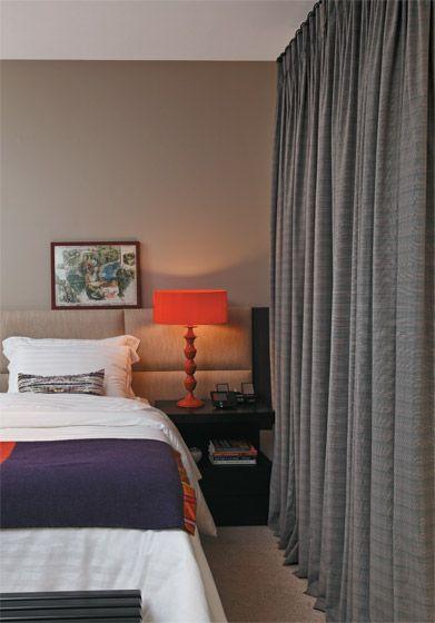 abajur para quarto de casal laranja