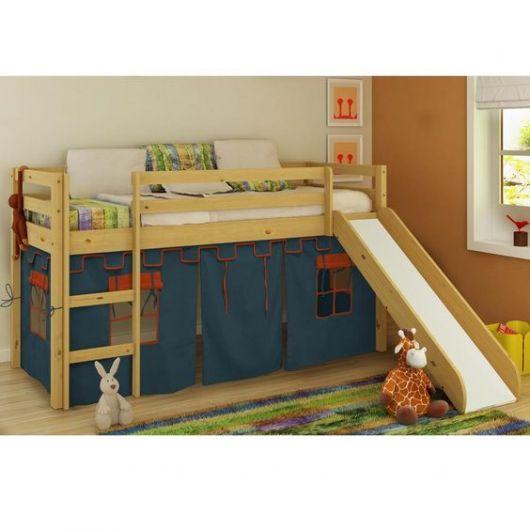 cama suspensa com escorregador