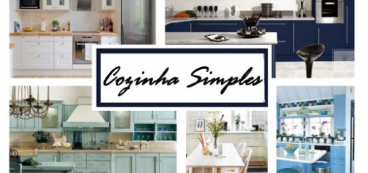 montagem com cozinhas simples, chamada do post.
