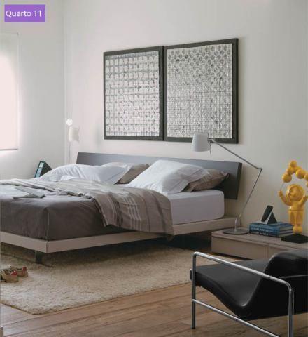 poltrona para quarto de casal com estrutura de alumínio aparente