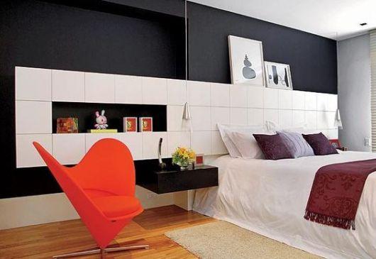 poltrona para quarto de casal laranja