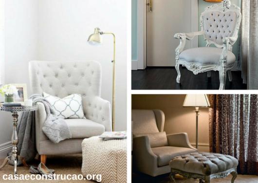 poltronas para quarto de casal no estilo clássico