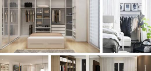 quarto de casal com closet com varanda