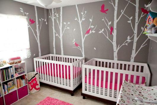 quarto cinza e pink