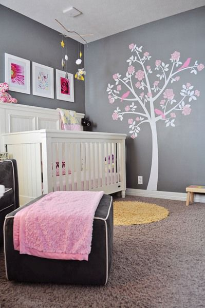 decoração cinza quarto menina