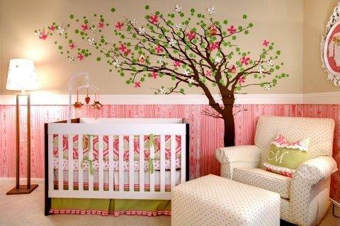 modelo de árvore quarto menina
