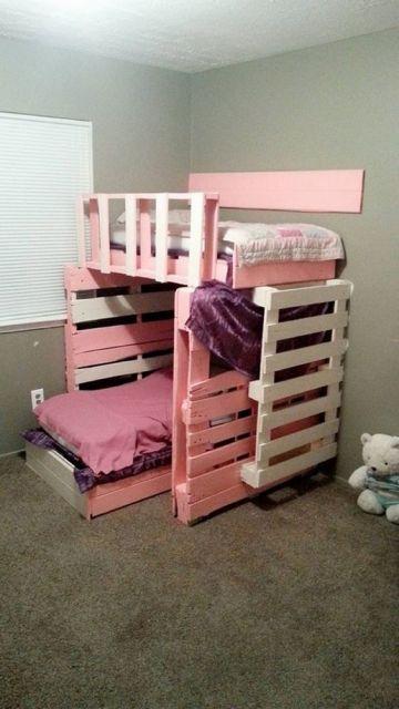 cama infantil de palete