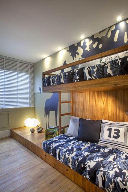 decoração azul quarto