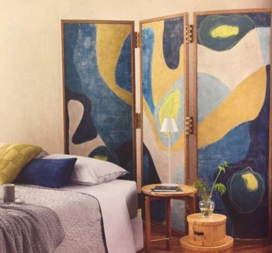 biombo colorido quarto