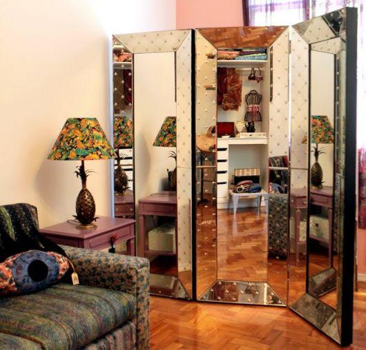 divisória de espelho