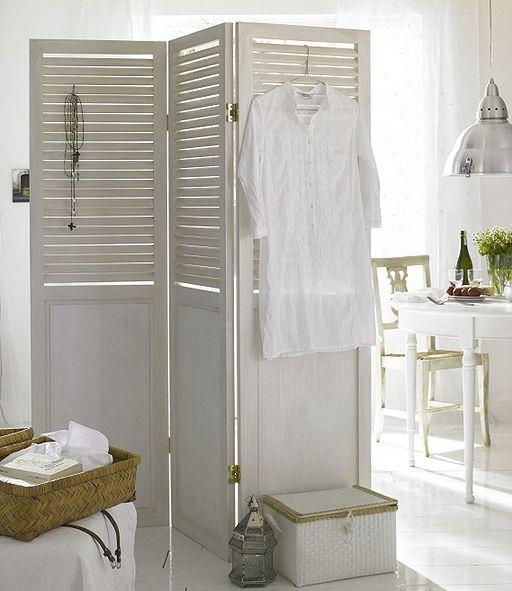 decoração com móveis brancos