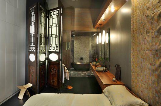 quarto com banheiro dentro