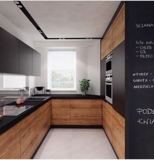 cozinha com parede de lousa