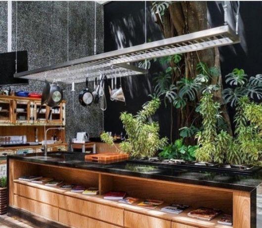 cozinha com jardim