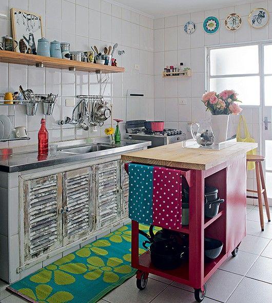 cozinha simples e rústica