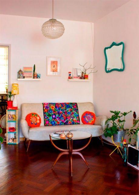 sala simples retrô