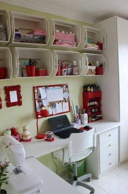home office decorado com reaproveitamento