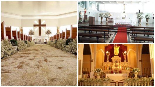 decoração altar igreja