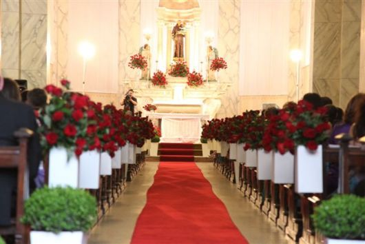 decoração com rosas vermelhas