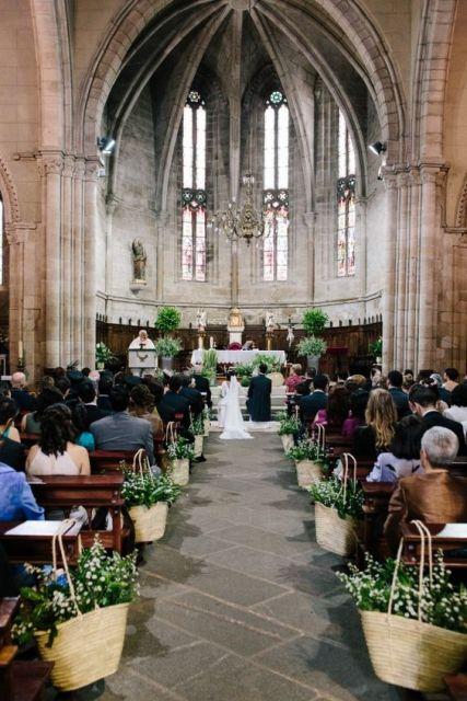 decoração simples casamento dia