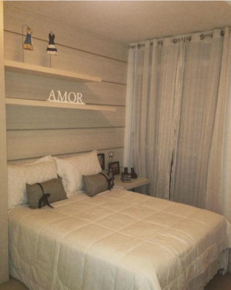 quarto simples planejado
