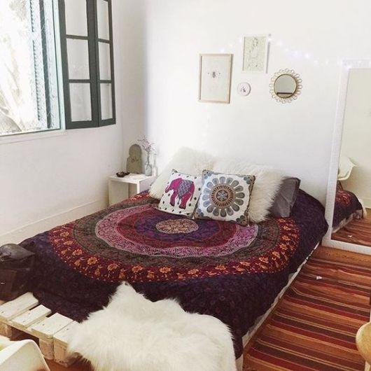 cama de pallets quarto feminino