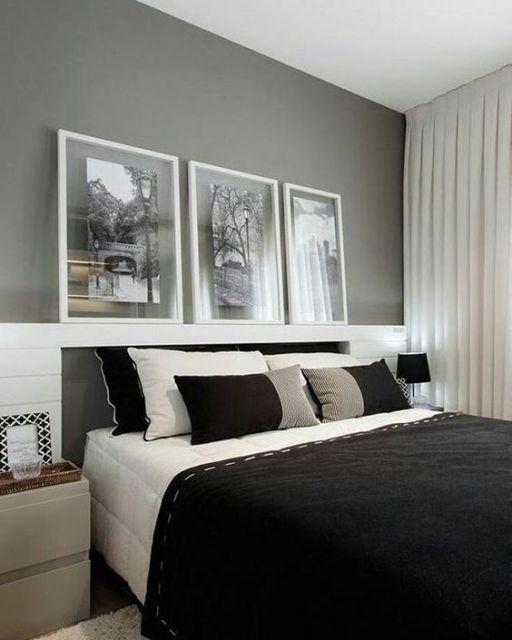 quarto moderno preto