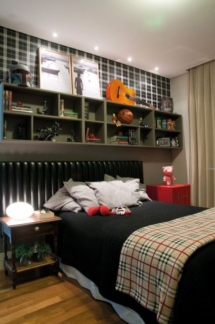 decoração em preto quarto