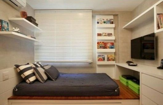 quarto com cama futon