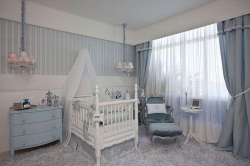 quarto de bebê chique