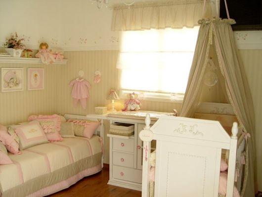 decoração bege e rosa