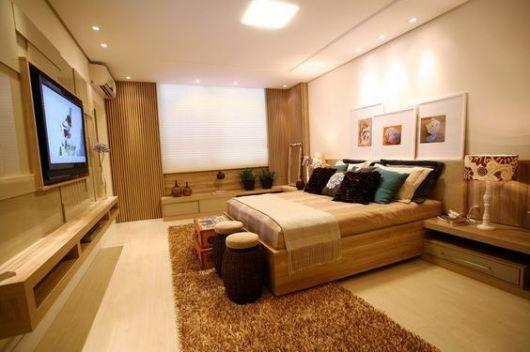 quarto decorado com TV