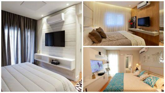 ideias para quarto com TV