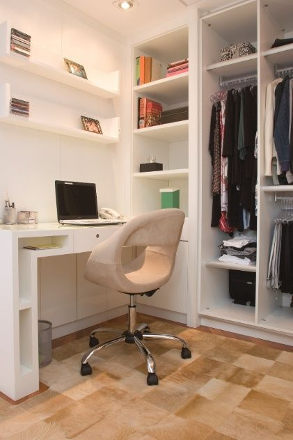 closet com home office dentro