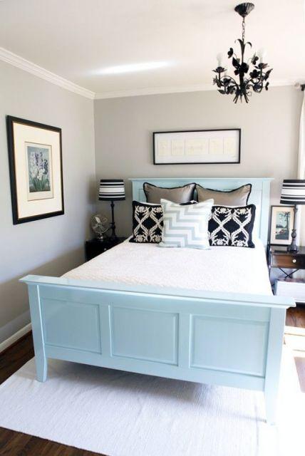 quadros para quarto de casal azul e preto
