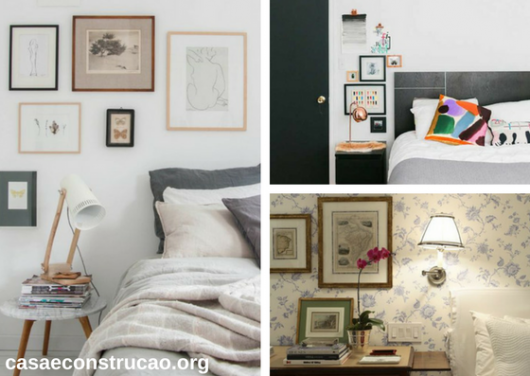 quadros para quarto de casal sobre criado-mudo