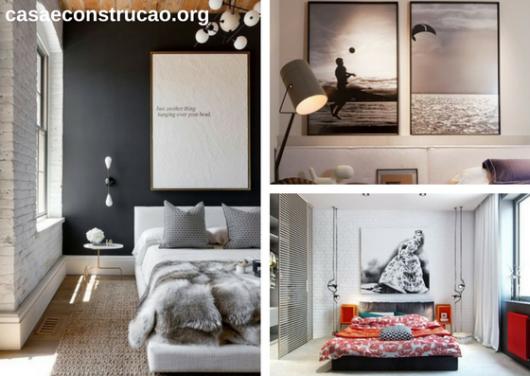 quadros longos e grandes para quarto de casal