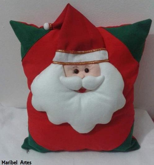 almofada Papai Noel de feltro
