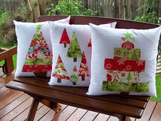 ideias almofadas patchwork