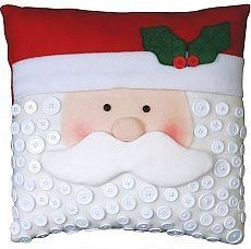 almofada quadrada Papai Noel