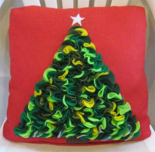almofada pinheiro de natal