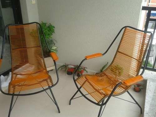 varanda simples com cadeira de cordinha