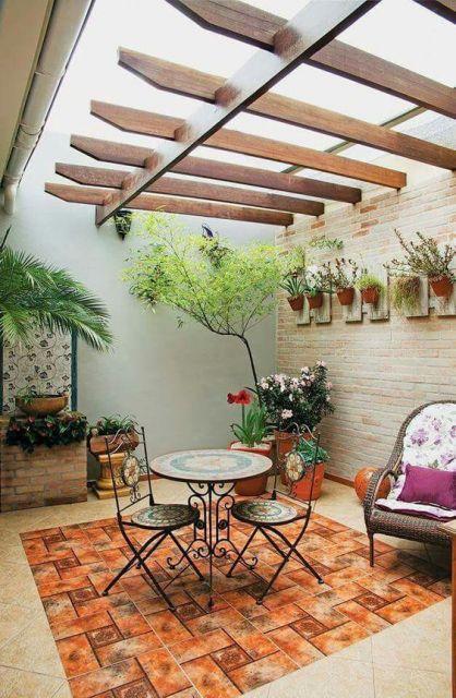 terraço casa decorado