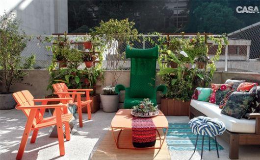 decoração colorida terraço