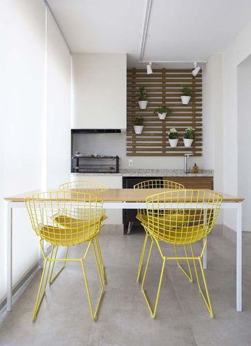 cadeira aramada decoração