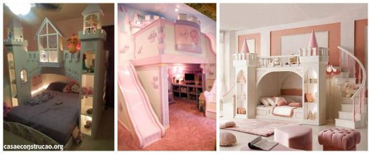 camas com formato de castelo