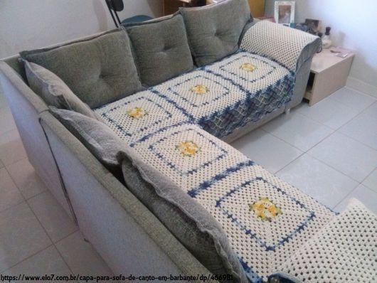 capa sofá de canto