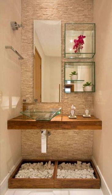 lavabo decorado moderno