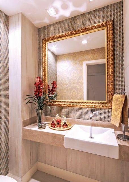 decoração lavabo de luxo