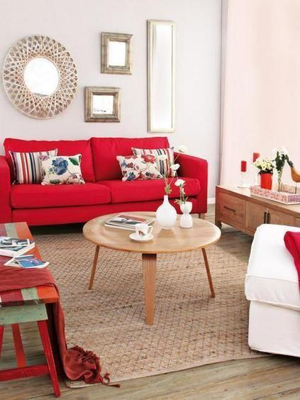 sofá vermelho sala